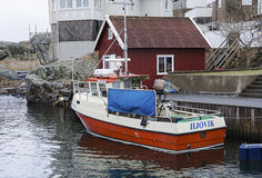 Fishing boat at the dock Stock Images