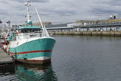 Fishing boat docked at Keroman wharf, Lorient, Brittany, France. Royalty Free Stock Photography