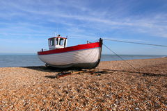 Fishing Boat at Dungeness Stock Photo