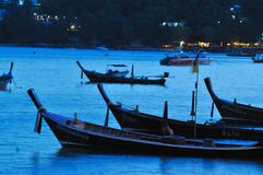 Fishing boat in the evening Royalty Free Stock Photos