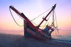 Fishing boat fail stock images