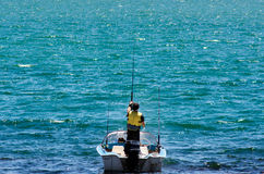 Fishing boat with fisherman Stock Photography