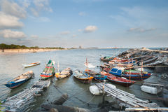 Fishing Boat at Fisherman village in Rayong Royalty Free Stock Photo