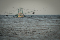Fishing boat in fishing Royalty Free Stock Photography