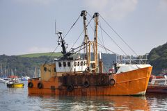 Fishing Boat, Fowey Royalty Free Stock Image