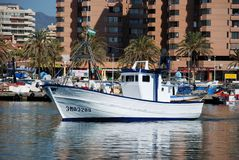 Fishing boat, Fuengirola. Stock Photos