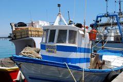 Fishing boat, Fuengirola. Stock Photography