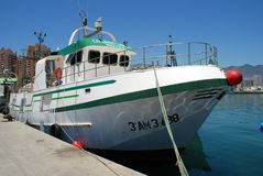 Fishing boat, Fuengirola. Stock Photo