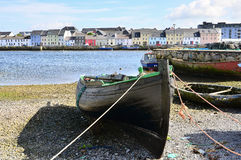 Fishing boat in Galway. Old fishing boat in harbor, Galway, Ireland Stock Photography