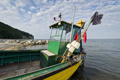 Fishing boat in Gdynia Orlowo Royalty Free Stock Image