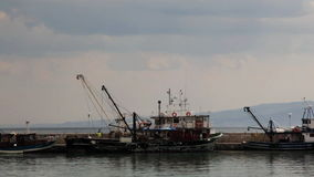 Fishing boat getting ready