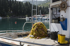 Fishing boat in Greece Royalty Free Stock Photography