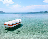 Summer dream. Fishing boat on the Greek island Royalty Free Stock Image