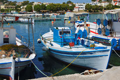 Fishing boat in greek island Stock Photo
