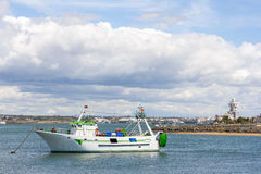 Fishing boat in Guadiana Royalty Free Stock Photo
