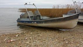 Fishing boat. Gull Bay native reserve Manitoba Canada royalty free stock image