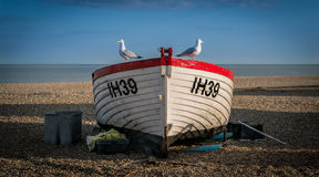 Fishing Boat with Gulls Stock Image