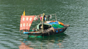 Fishing boat in the Ha Long Bay Stock Images