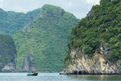 Fishing boat in the Ha Long Bay Stock Photography