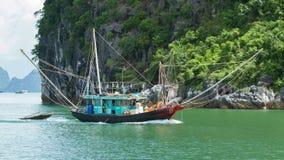 Fishing boat in the Ha Long Bay Stock Image