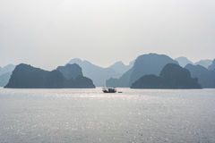 Fishing boat on Halong bay. Vietnam Stock Image