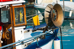 Fishing Boat in the Harbor - Liguria Italy Stock Images