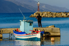Fishing boat in the Harbor stock photography