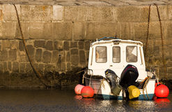 Fishing Boat in the Harbour Stock Photography
