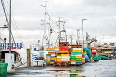 Fishing boat in harbour Royalty Free Stock Photo