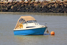 Fishing boat in harbour Stock Image