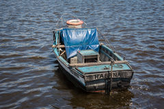 Fishing boat in Havana Royalty Free Stock Photo