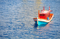 Fishing boat heading out to the gulf in the early morning. Stock Images