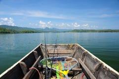 Fishing boat heading to the lake Royalty Free Stock Photo