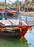 Fishing Boat in Hoi An Harbour, Vietnam. Royalty Free Stock Images