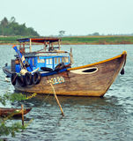 Fishing Boat on Hoi An River, Vietnam. Stock Photography