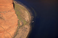 Fishing Boat Horseshoe Bend Glen Canyon Arizona Stock Photos