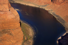 Fishing Boat Horseshoe Bend Glen Canyon Arizona Royalty Free Stock Photography