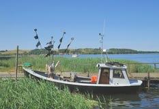Fishing Boat,House,Ruegen island,Baltic Sea,Germany Stock Photos