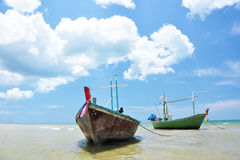 Fishing Boat, Hua-Hin Thailand. Fishing Boat from the Beach in Thailand Stock Images