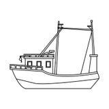 Fishing boat icon image. Illustration design Stock Image