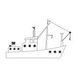 Fishing boat icon image. Illustration design Royalty Free Stock Photos