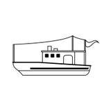 Fishing boat icon image. Illustration design Stock Photos