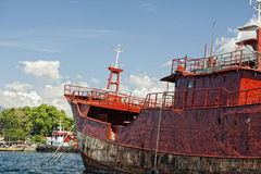Fishing boat in indonesia harbor Royalty Free Stock Photography