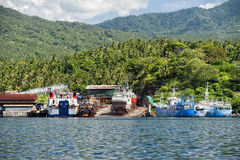 Fishing boat in indonesia harbor Stock Photo