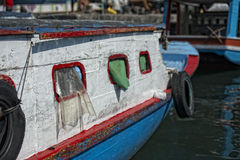 Fishing boat in indonesia harbor Royalty Free Stock Image