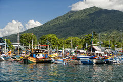 Fishing boat in indonesia harbor Royalty Free Stock Photos