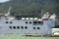 Fishing boat in indonesia harbor Stock Image