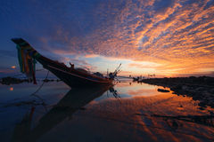 Fishing boat. On the island of Koh Samui during sunset Stock Photos