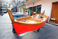 Fishing boat in an Italian village Stock Photos