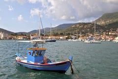 Fishing boat at Ithaki island in Greece Royalty Free Stock Photo